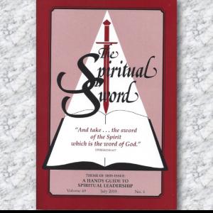 July 2018 Spiritual Sword Cover on Granite